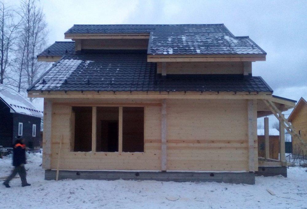 дом из профилированного бруса построенный по проекту Вариант 9.3 К фотография 4671