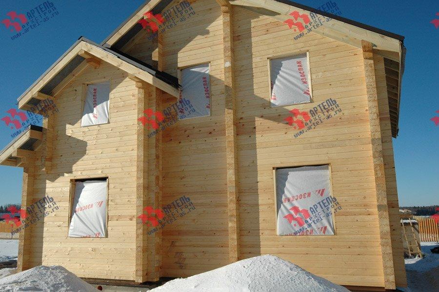 дом из профилированного бруса построенный по проекту Вариант 9.3 К фотография 3661