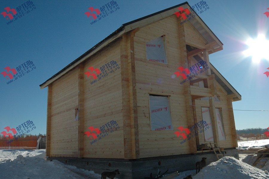 дом из профилированного бруса построенный по проекту Вариант 9.3 К фотография 3664