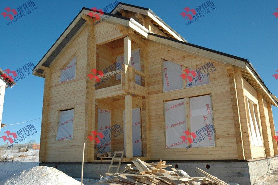 дом из профилированного бруса построенный по проекту Вариант 9.3 К фотография 3665
