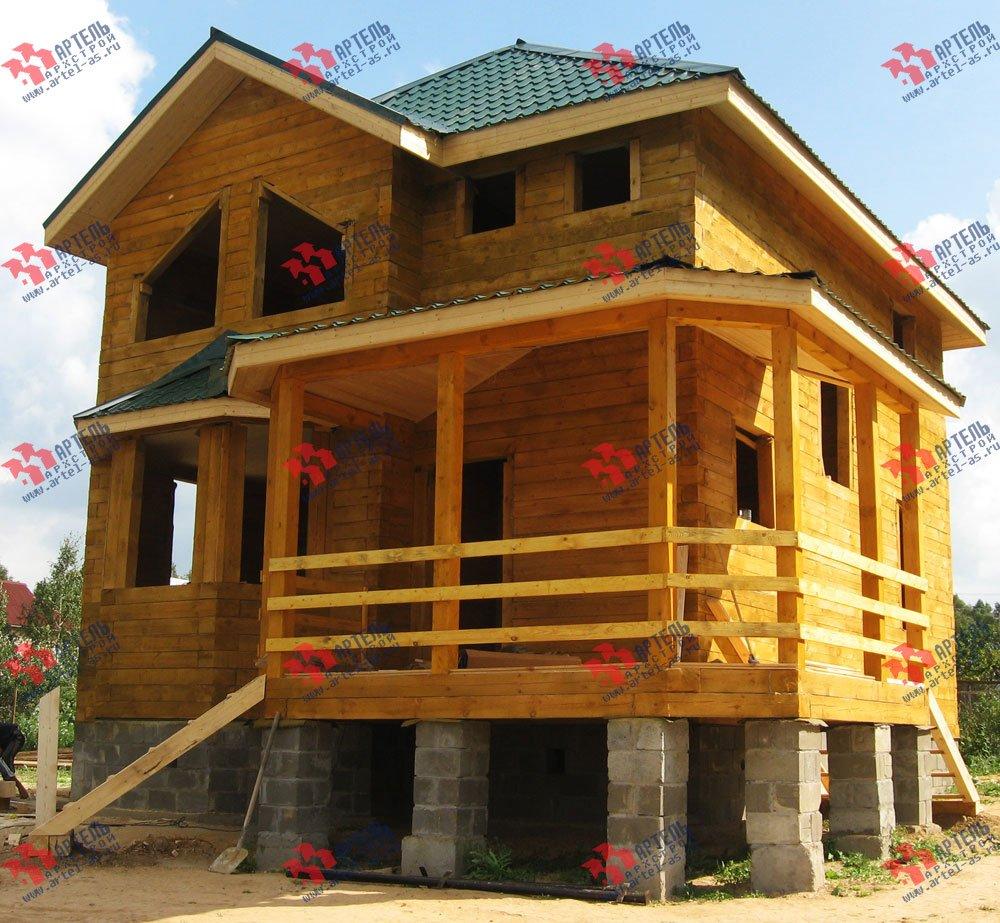 дом из профилированного бруса построенный по проекту Вариант 9.3 А фотография 1800