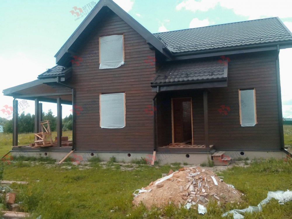 дом из профилированного бруса построенный по проекту Вариант 9.5 К фотография 4834