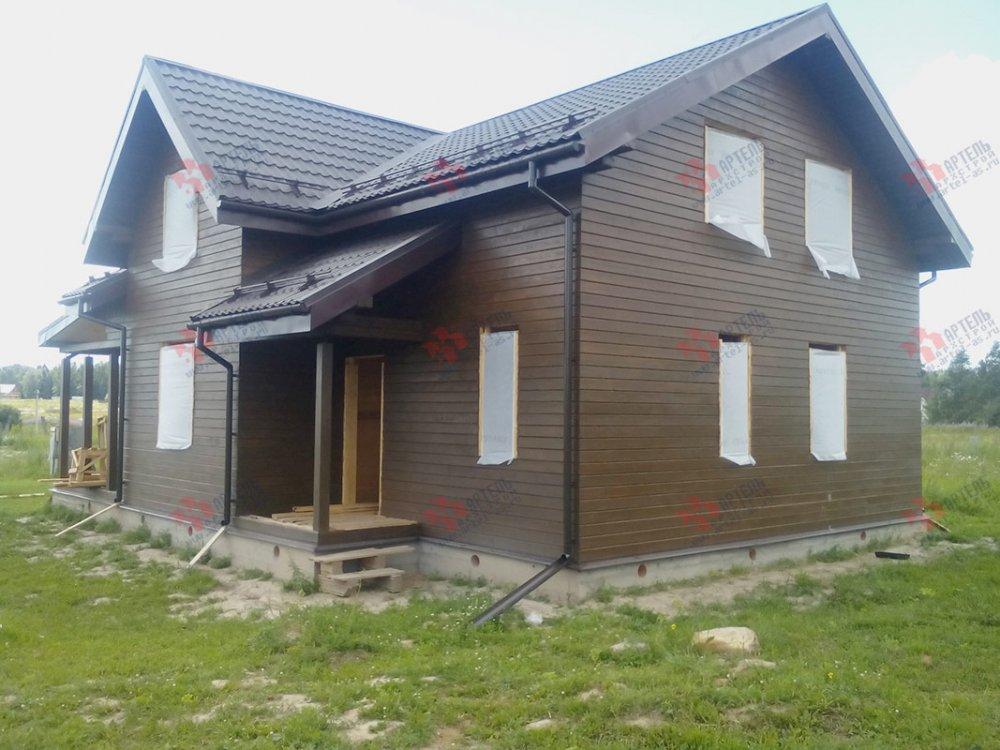 дом из профилированного бруса построенный по проекту Вариант 9.5 К фотография 4835