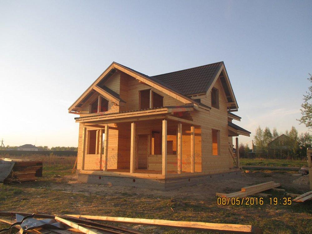дом из профилированного бруса построенный по проекту Вариант 9.5 К фотография 4806
