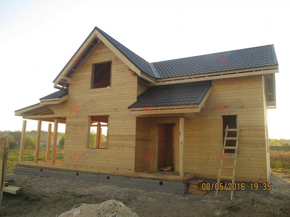 дом из профилированного бруса построенный по проекту Вариант 9.5 К фотография 4808