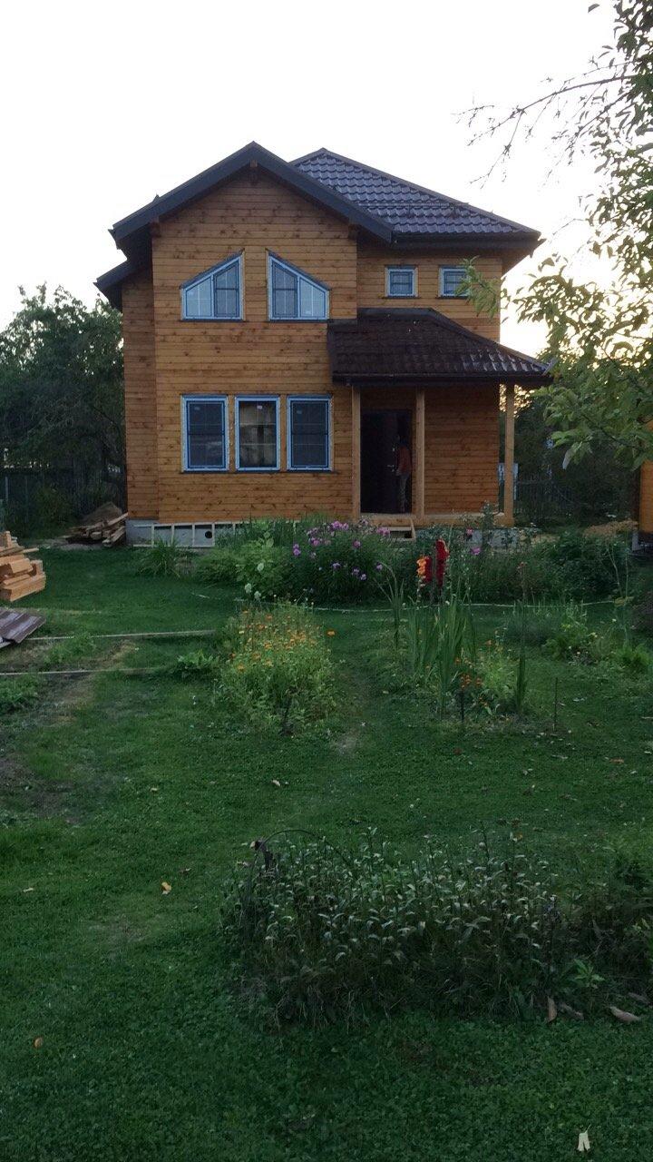 дом из профилированного бруса построенный по проекту Вариант 9.3 А фотография 5654