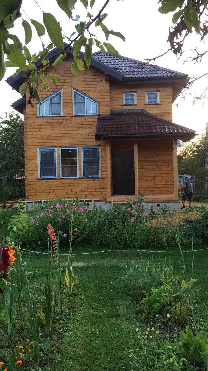 дом из профилированного бруса построенный по проекту Вариант 9.3 А фотография 5655