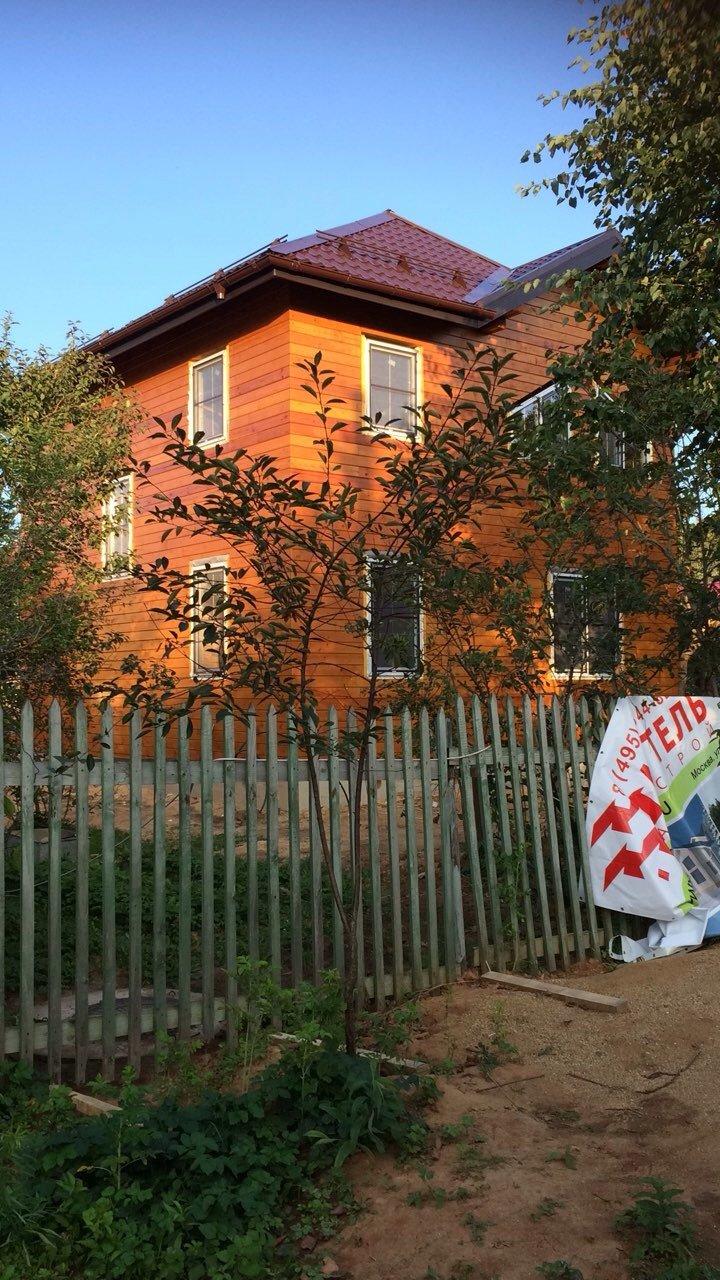 дом из профилированного бруса построенный по проекту Вариант 9.3 А фотография 5656