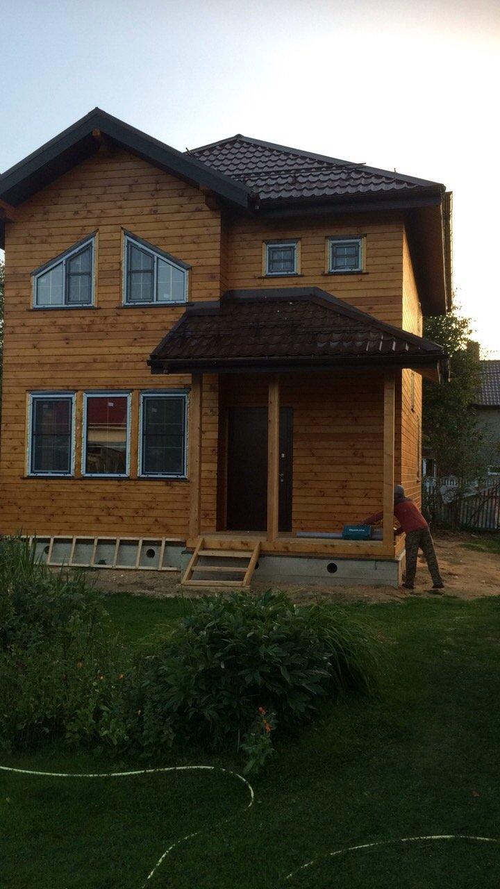 дом из профилированного бруса построенный по проекту Вариант 9.3 А фотография 5657