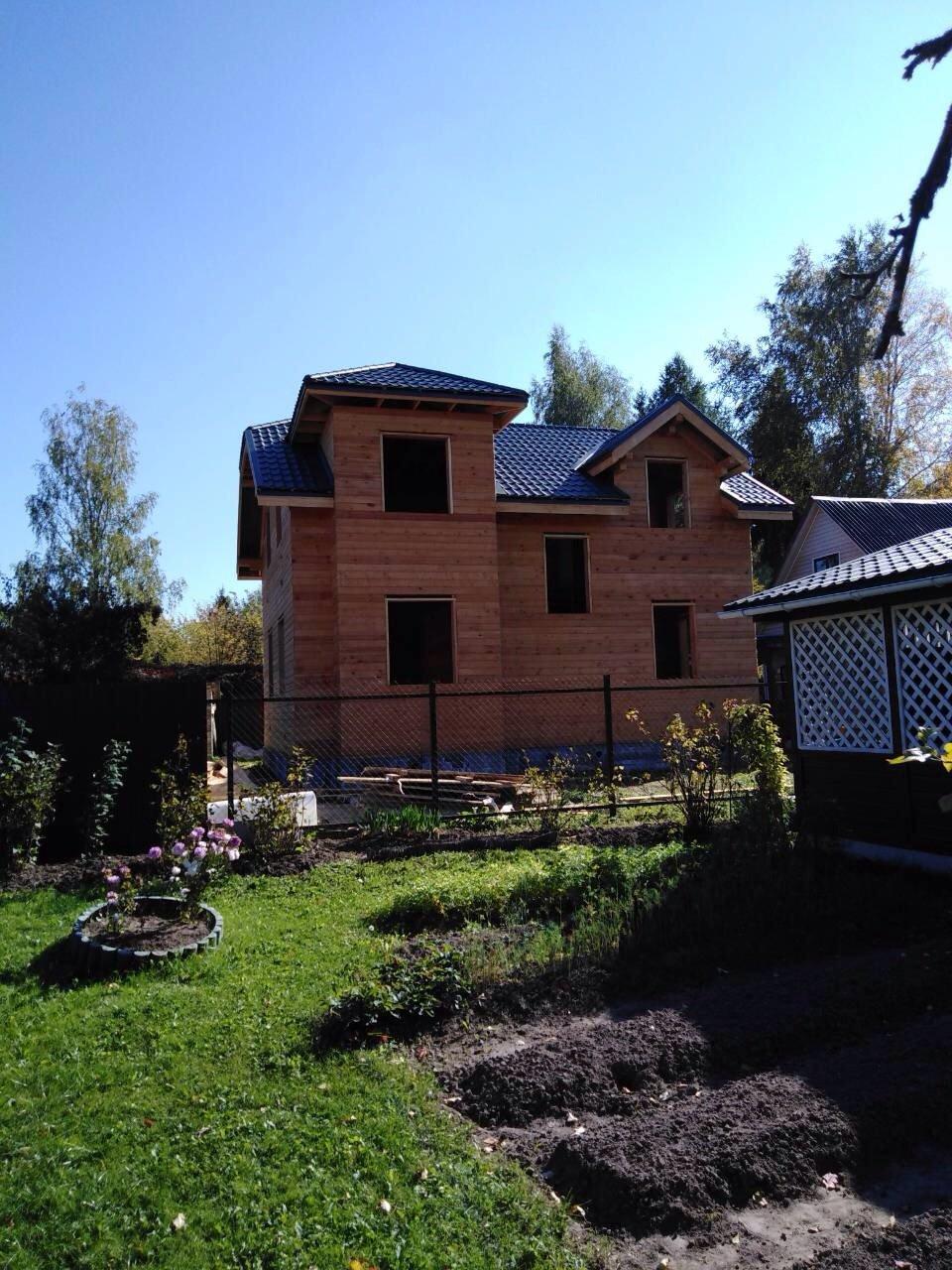 дом из профилированного бруса построенный по проекту Вариант 9С фотография 5645