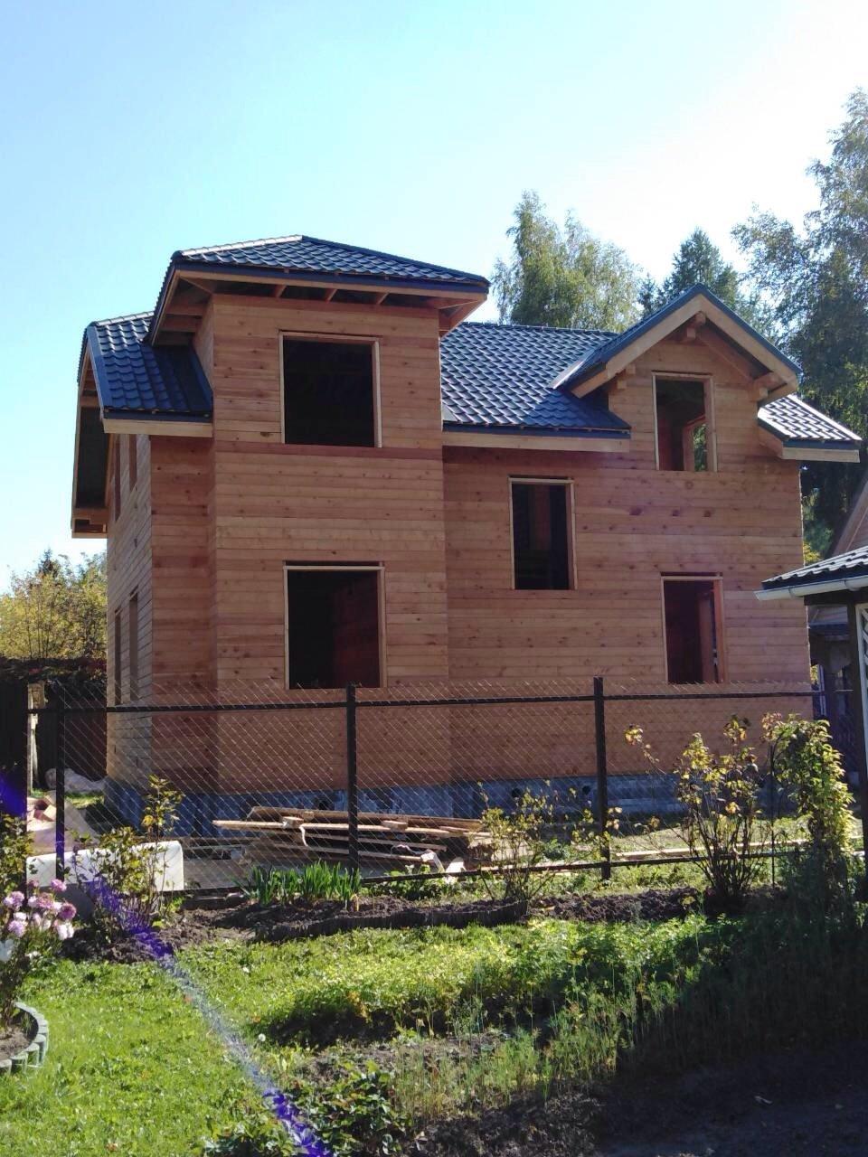дом из профилированного бруса построенный по проекту Вариант 9С фотография 5646