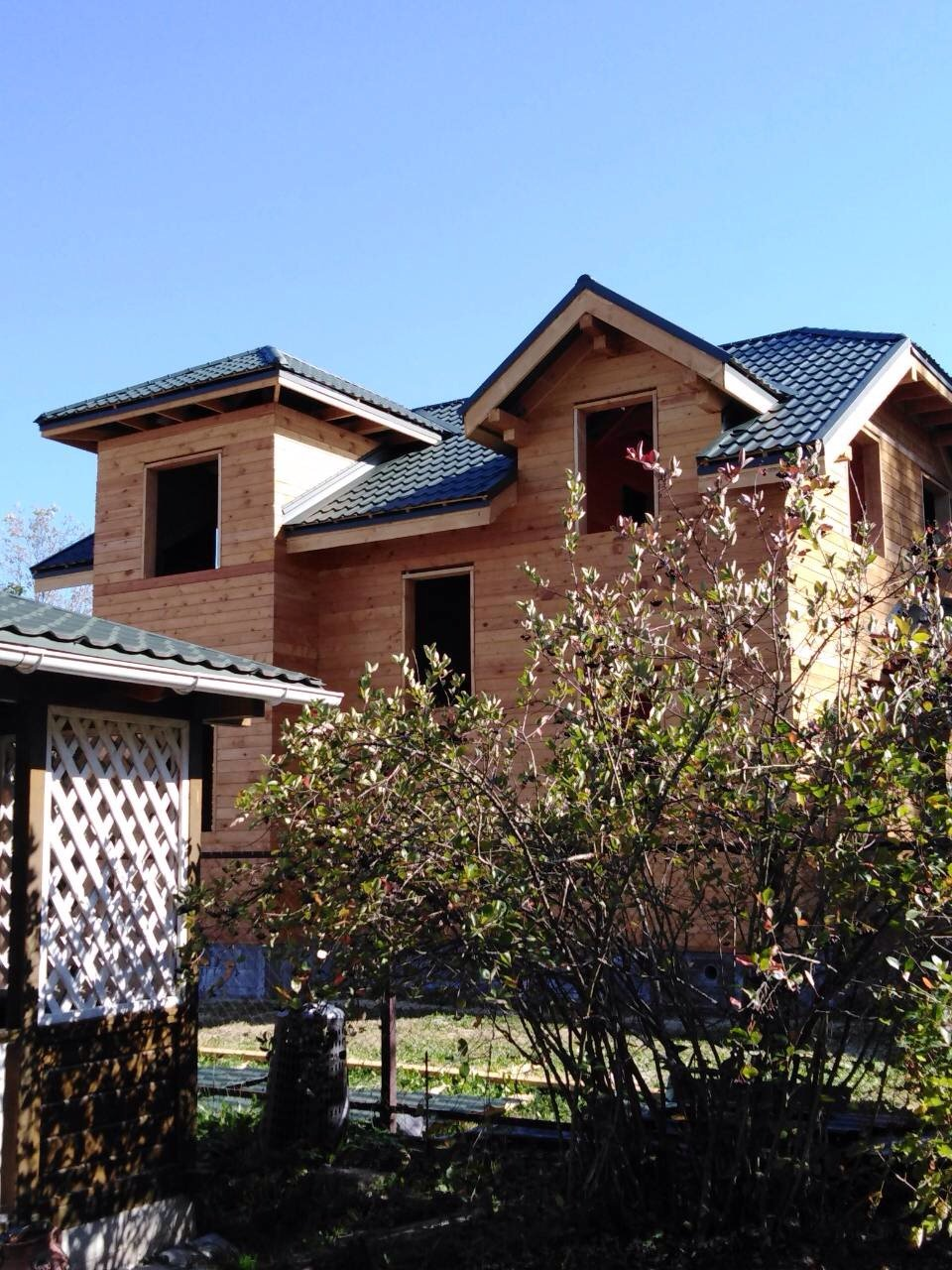 дом из профилированного бруса построенный по проекту Вариант 9С фотография 5647