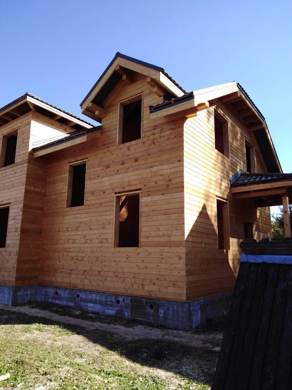 дом из профилированного бруса построенный по проекту Вариант 9С фотография 5648