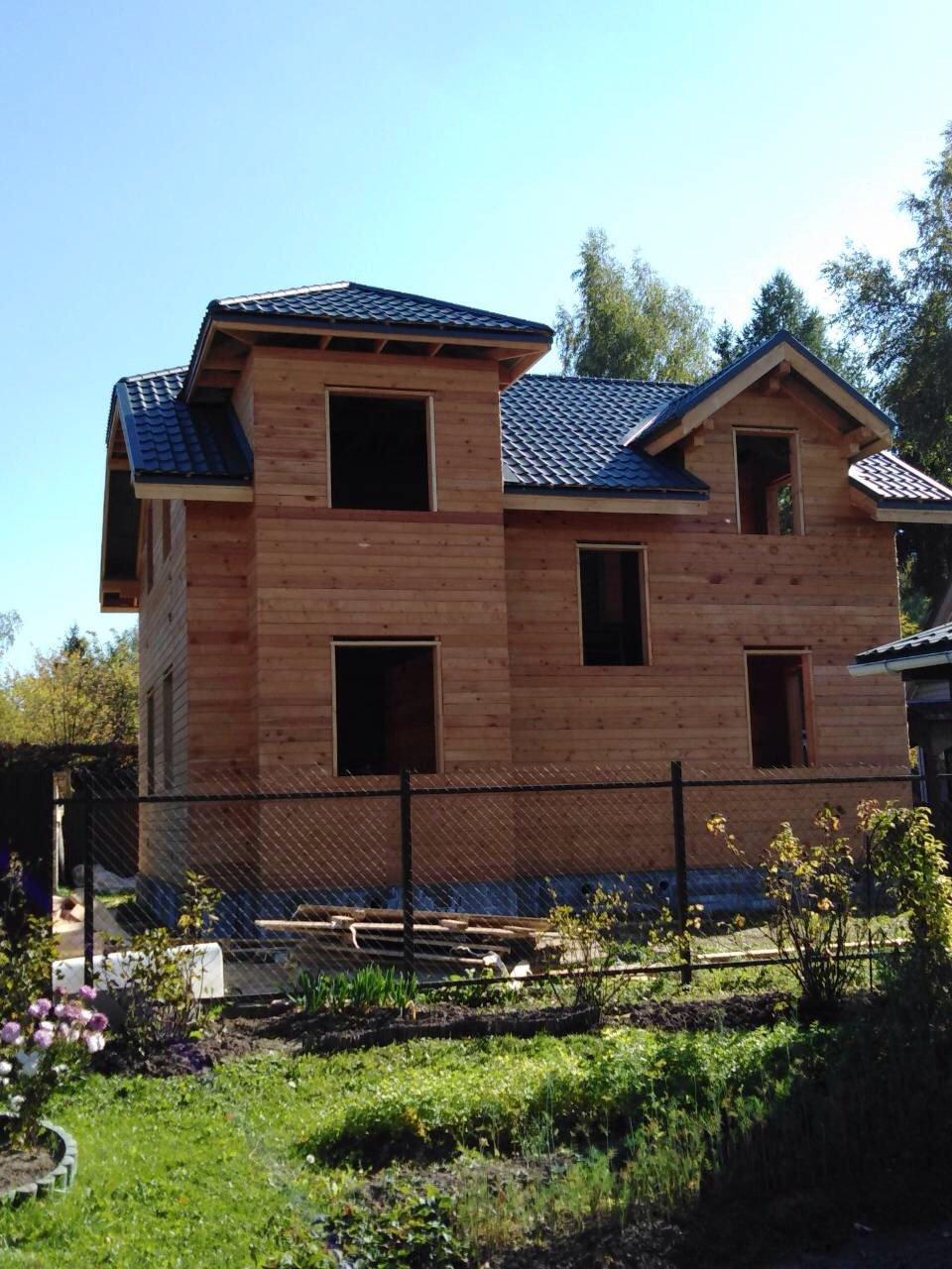 дом из профилированного бруса построенный по проекту Вариант 9С фотография 5649