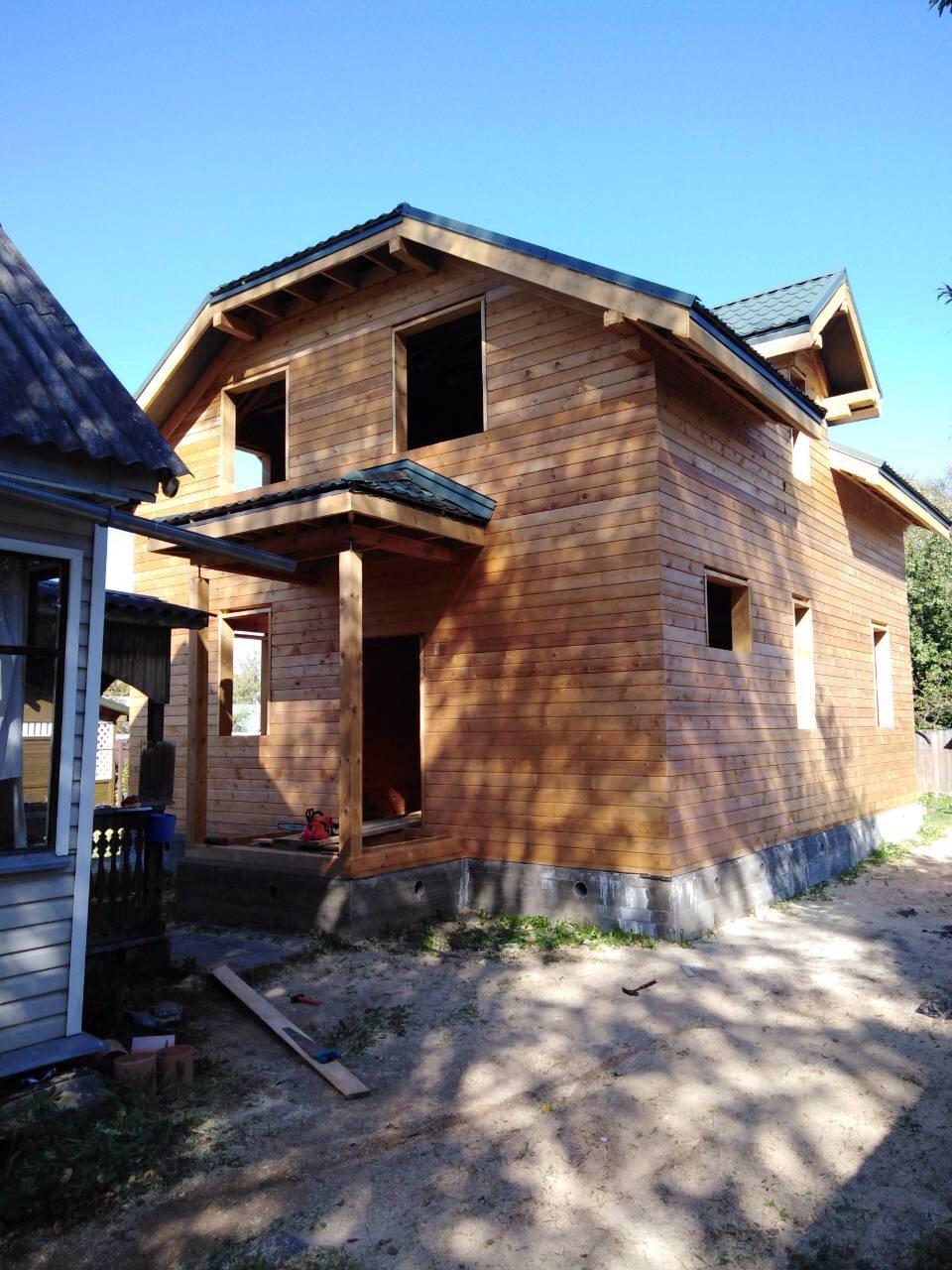 дом из профилированного бруса построенный по проекту Вариант 9С фотография 5650