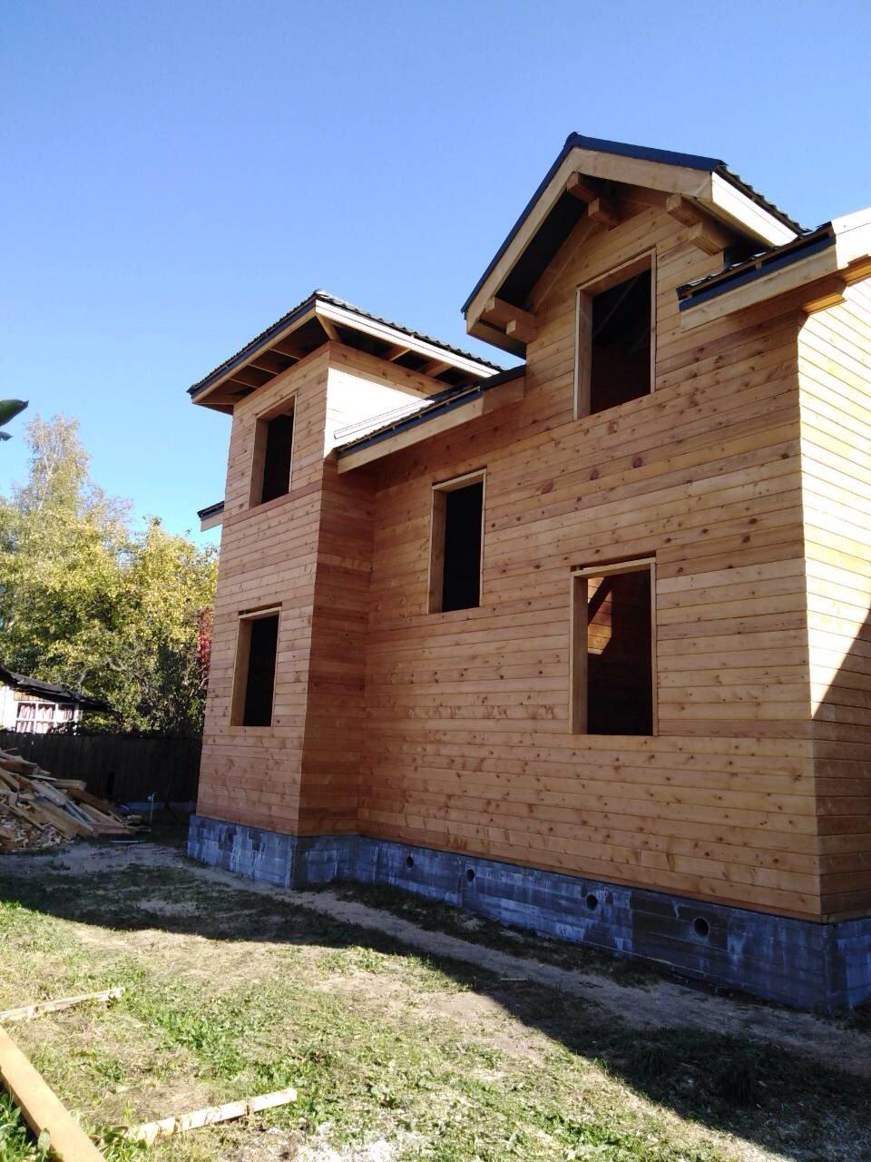 дом из профилированного бруса построенный по проекту Вариант 9С фотография 5651