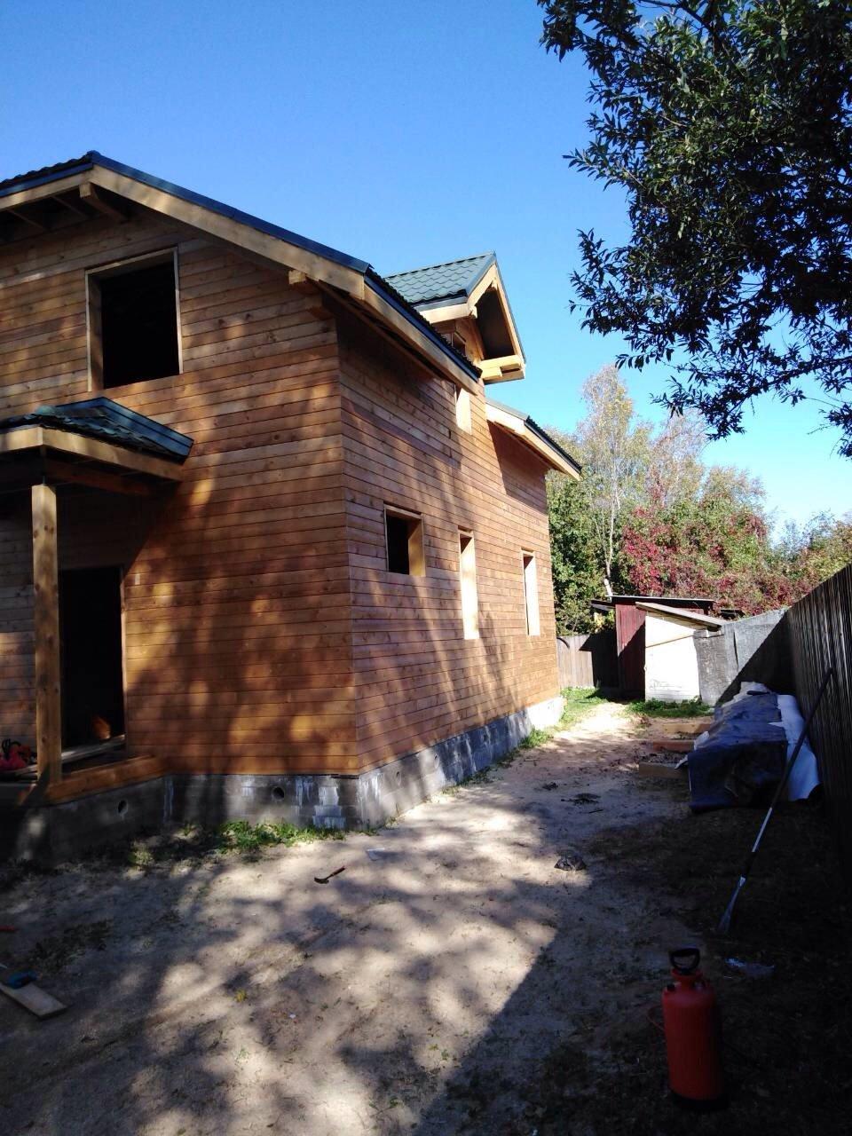 дом из профилированного бруса построенный по проекту Вариант 9С фотография 5652
