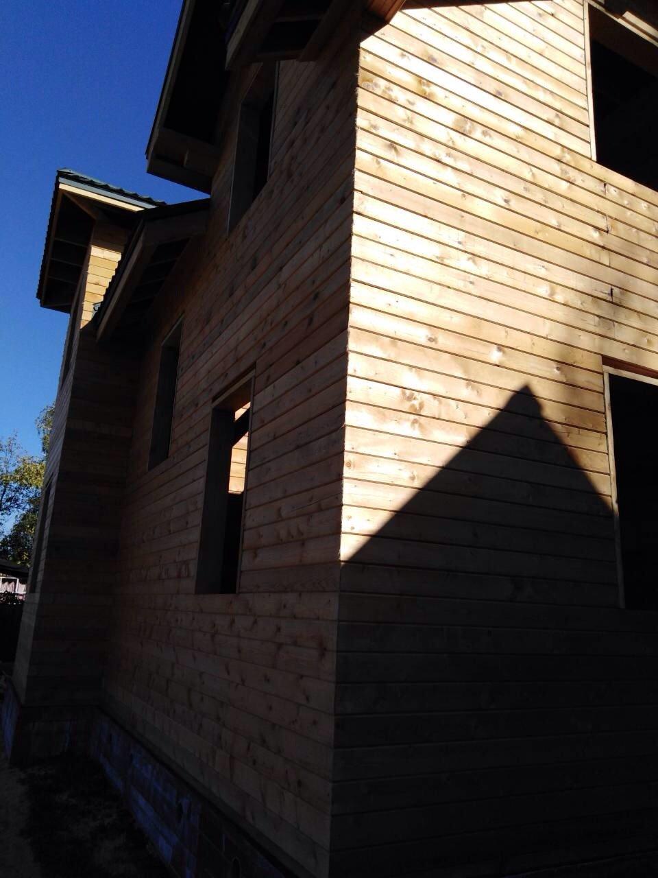 дом из профилированного бруса построенный по проекту Вариант 9С фотография 5653