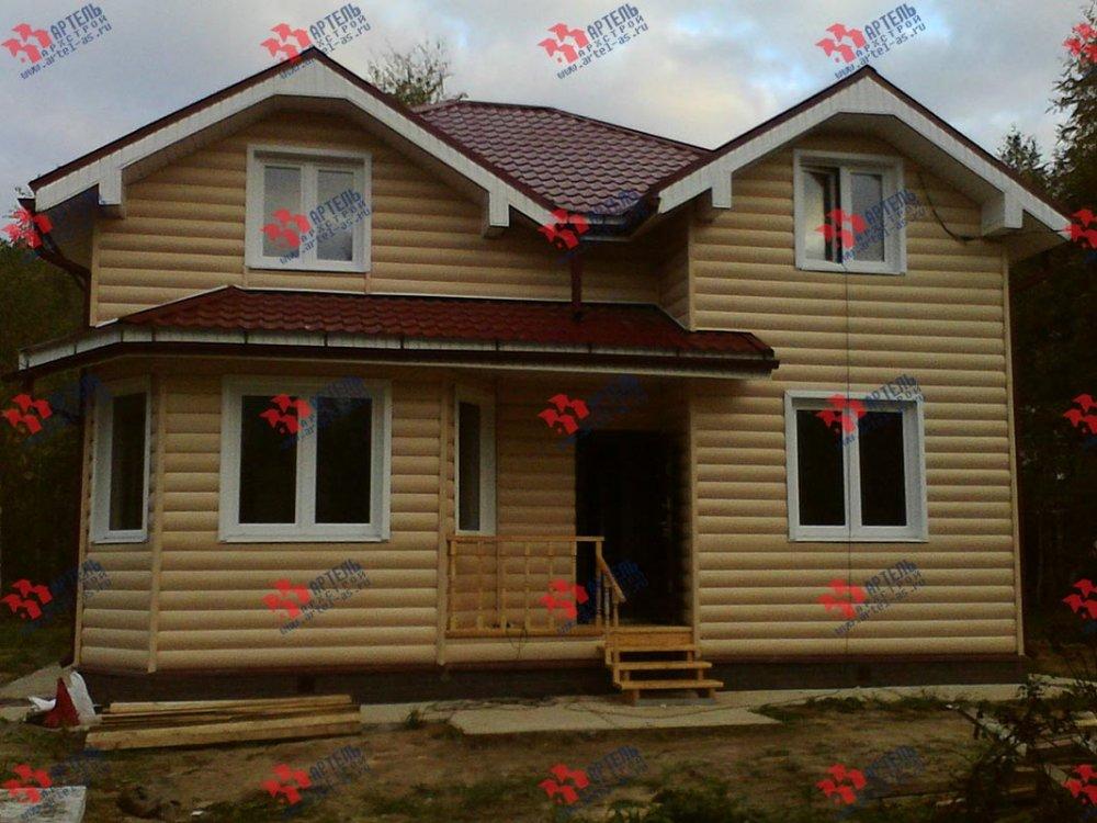 дом из бруса построенный по проекту Вариант 9 Г фотография 3797