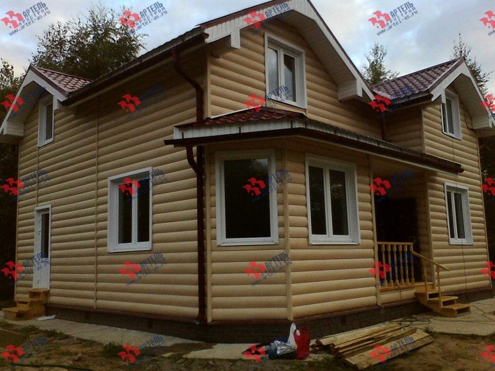 дом из бруса построенный по проекту Вариант 9 Г фотография 3798