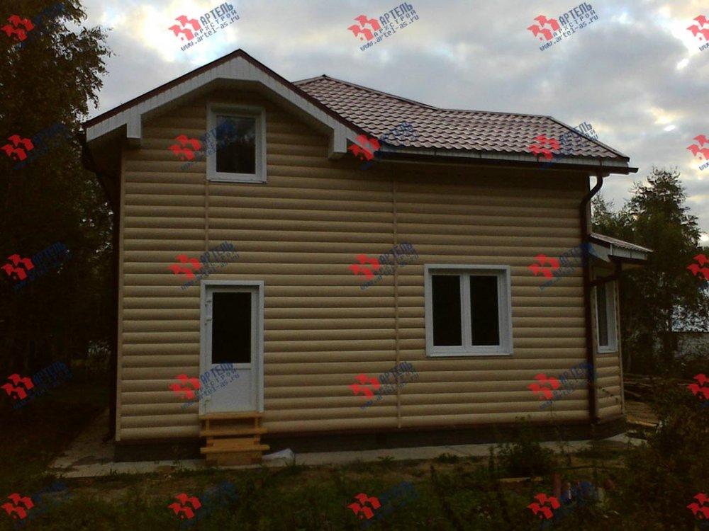 дом из бруса построенный по проекту Вариант 9 Г фотография 3799