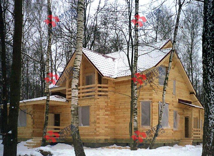 дом из бруса построенный по проекту Вариант 9 В фотография 1827