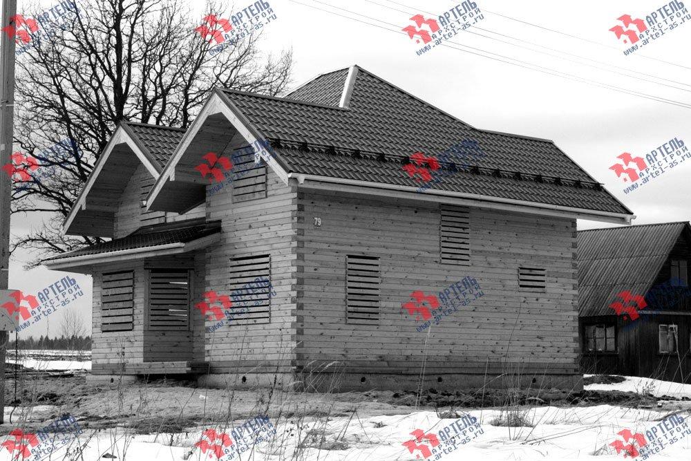 дом из бруса построенный по проекту Вариант 9 Г фотография 2446