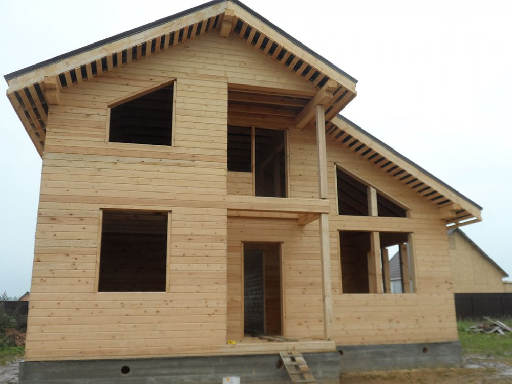 дом из профилированного бруса построенный по проекту Вариант 9.3 К фотография 4857