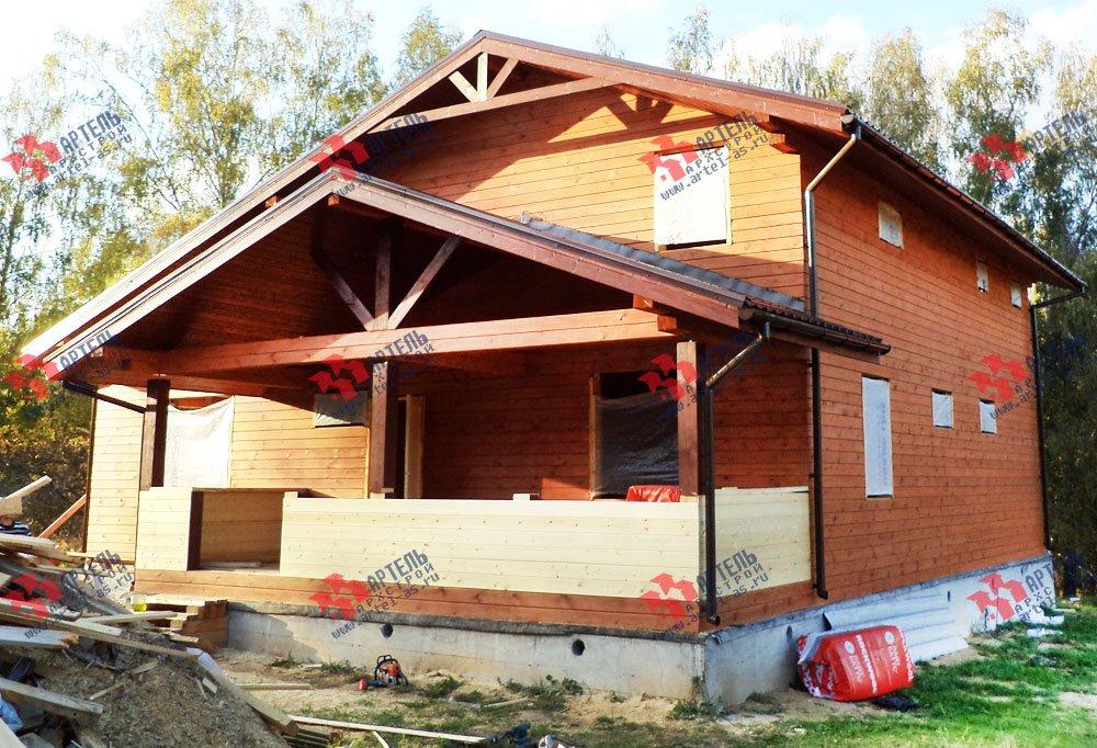 дом из бруса построенный по проекту Вариант 11 Л-1 фотография 2658