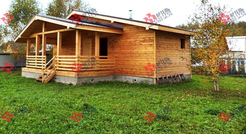 дом из профилированного бруса построенный по проекту Вариант 5 фотография 2649