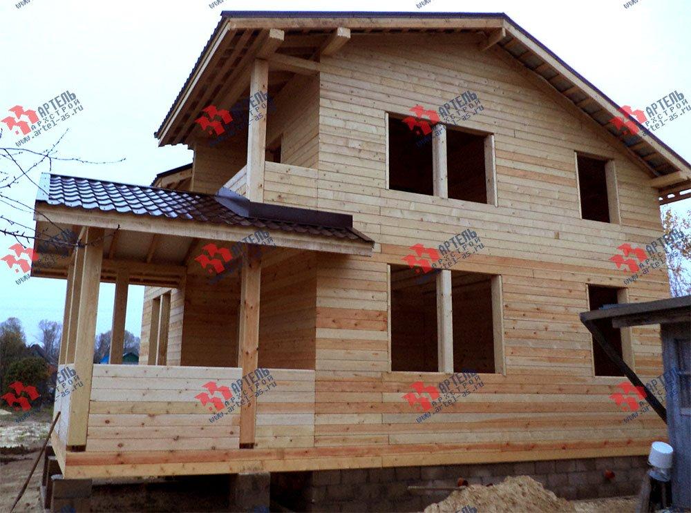 дом из бруса построенный по проекту Вариант 8 М фотография 2776