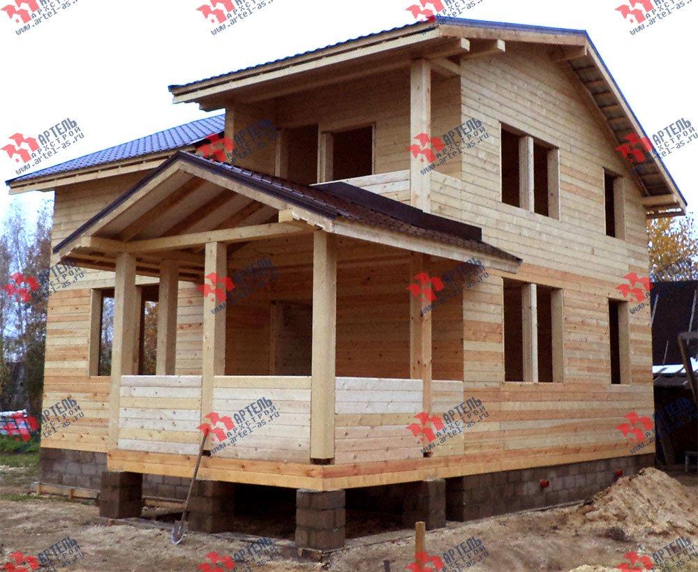 дом из бруса построенный по проекту Вариант 8 М фотография 2777