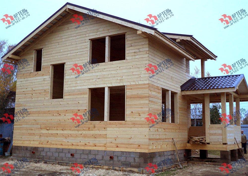 дом из бруса построенный по проекту Вариант 8 М фотография 2779