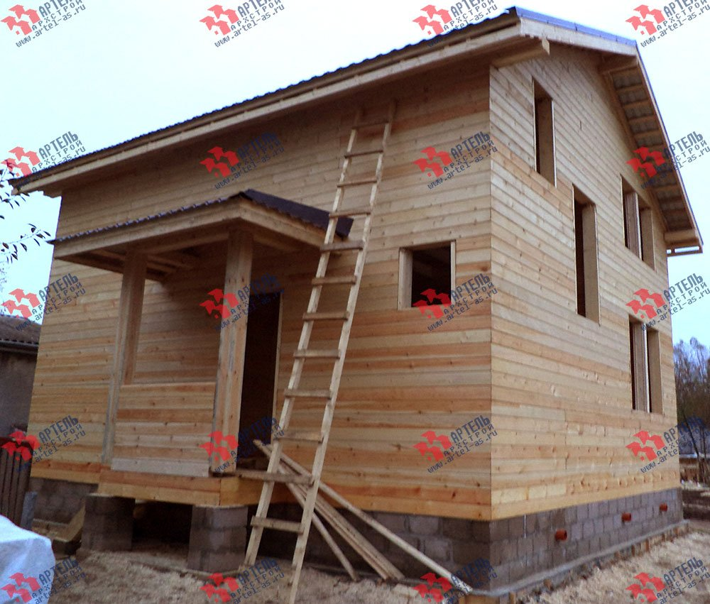 дом из бруса построенный по проекту Вариант 8 М фотография 2781