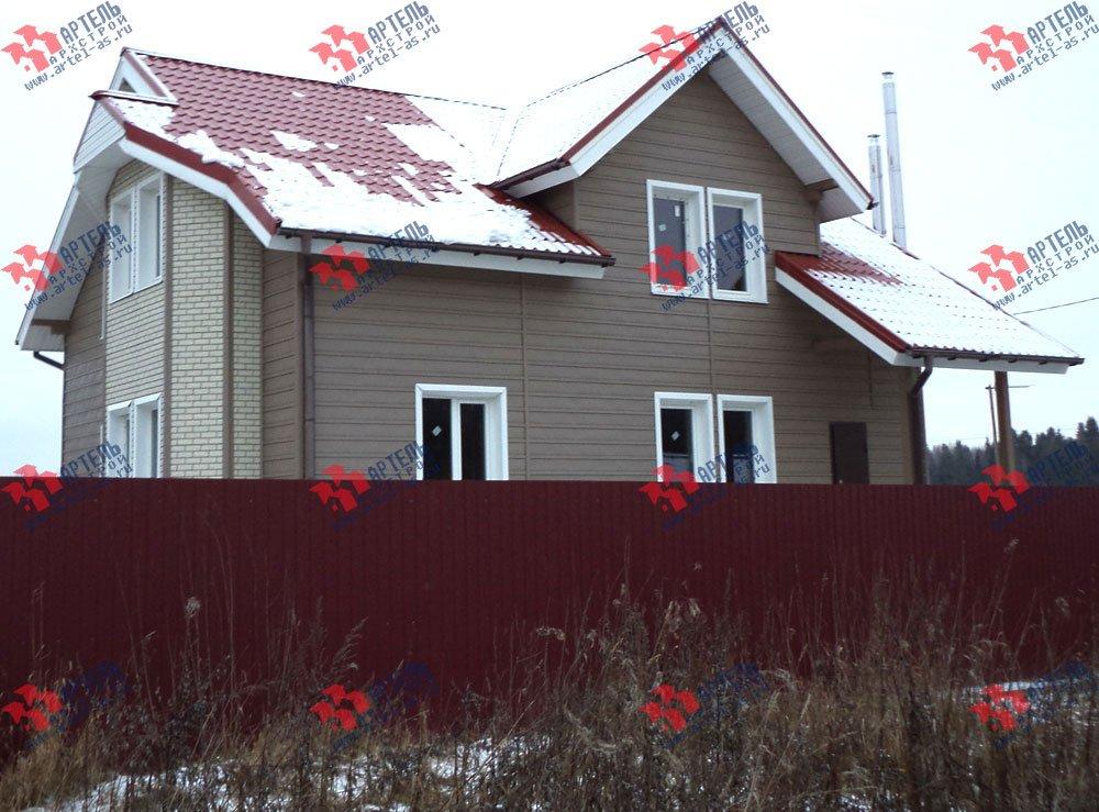 дом из бруса построенный по проекту Вариант 8.8 А фотография 3127