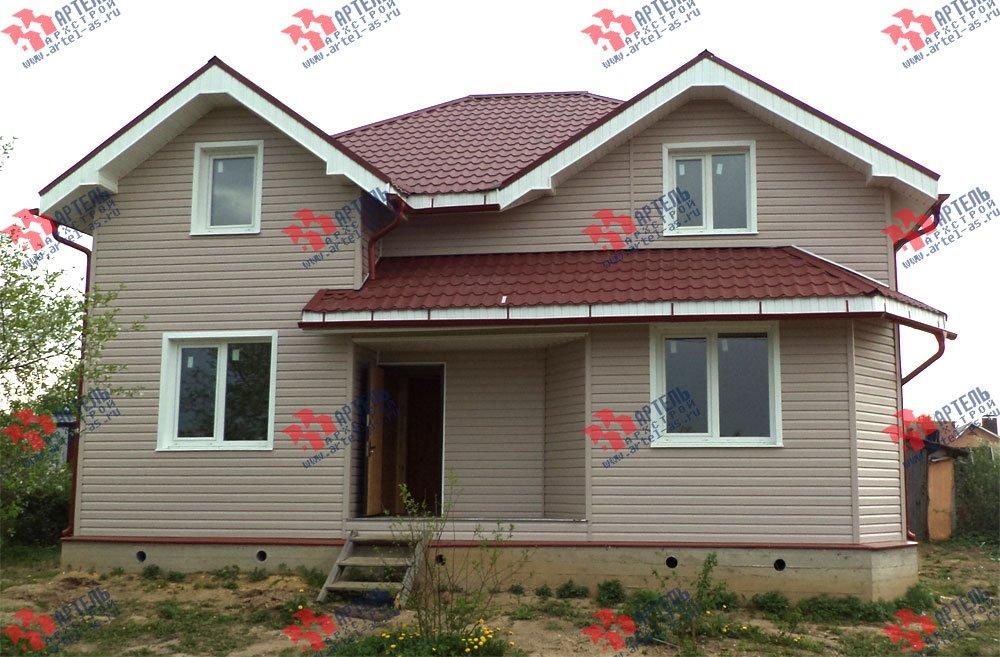 дом из бруса построенный по проекту Вариант 9.5 А фотография 3249
