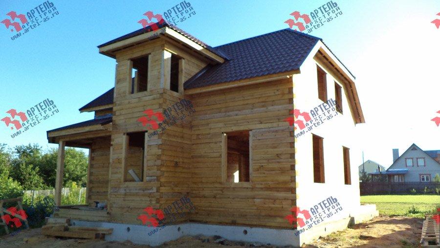 дом из бруса построенный по проекту Вариант 8 М фотография 3552