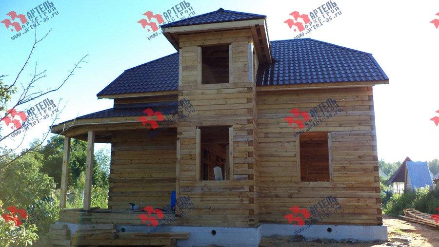 дом из бруса построенный по проекту Вариант 8 М фотография 3553