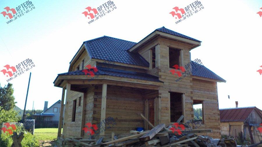 дом из бруса построенный по проекту Вариант 8 М фотография 3554