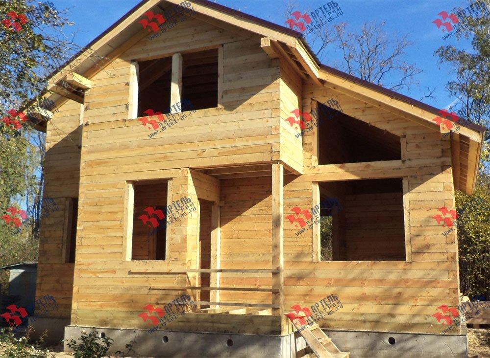 дом из профилированного бруса построенный по проекту Вариант 5.6 А фотография 3254