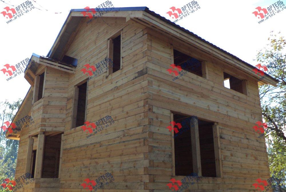 дом из профилированного бруса построенный по проекту Вариант 5.6 А фотография 3255
