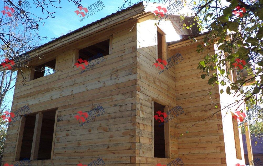 дом из профилированного бруса построенный по проекту Вариант 5.6 А фотография 3256