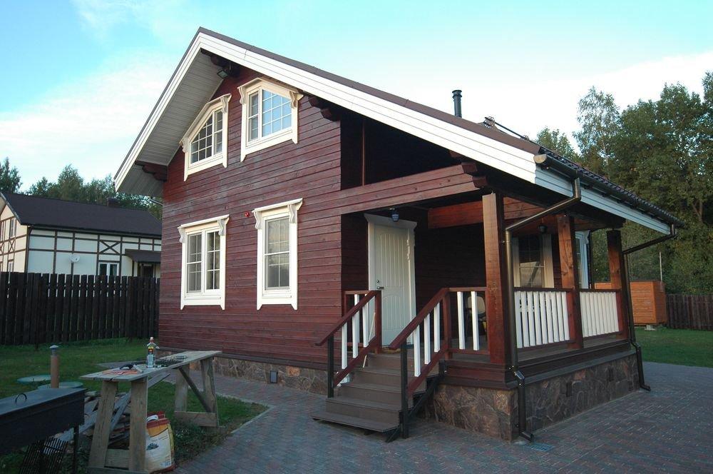 дом из профилированного бруса построенный по проекту Вариант 6 Л фотография 5976