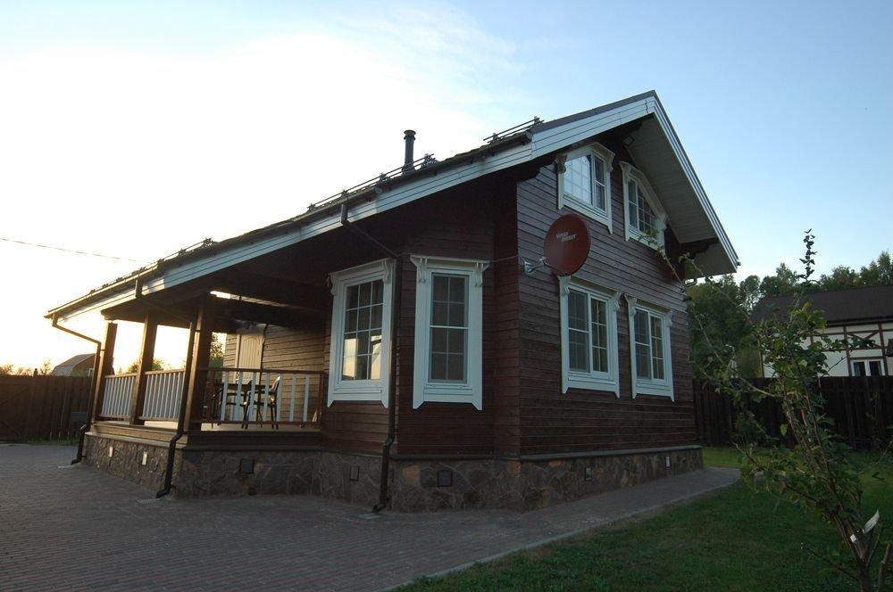 дом из профилированного бруса построенный по проекту Вариант 6 Л фотография 5978
