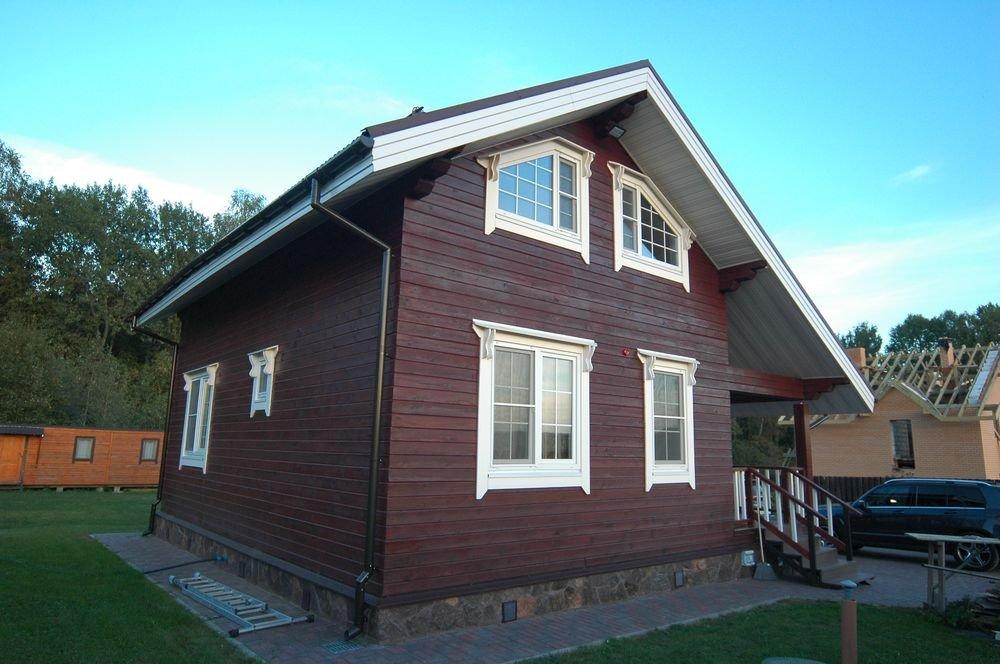 дом из профилированного бруса построенный по проекту Вариант 6 Л фотография 5980