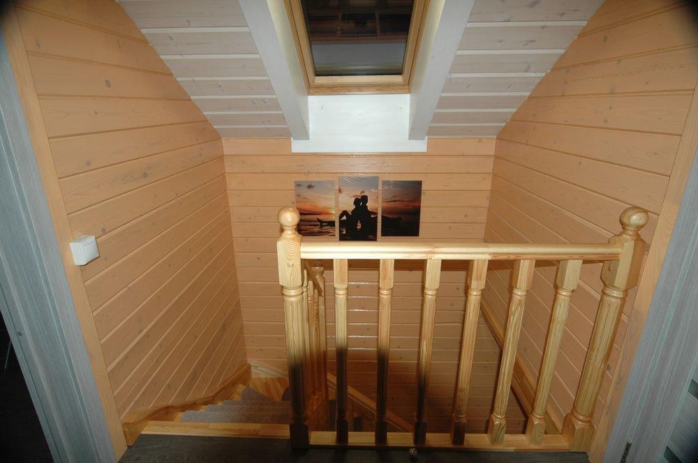 дом из профилированного бруса построенный по проекту Вариант 6 Л фотография 5982