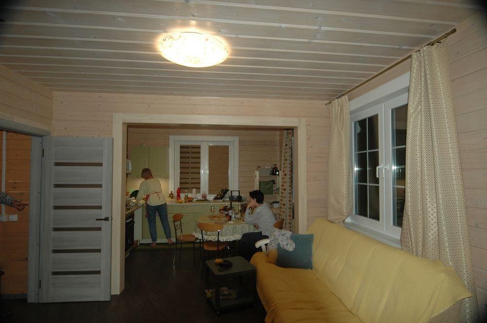дом из профилированного бруса построенный по проекту Вариант 6 Л фотография 5988
