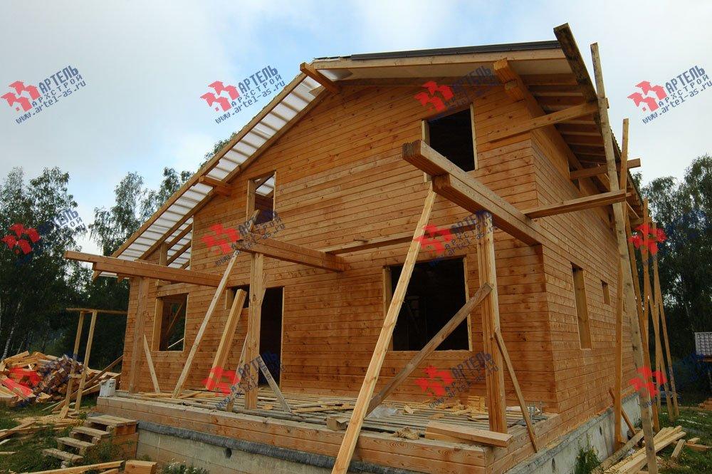 дом из бруса построенный по проекту Вариант 11 Л-1 фотография 2641