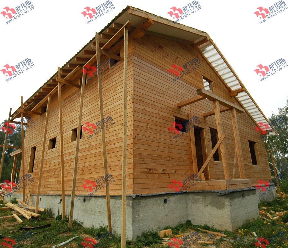 дом из бруса построенный по проекту Вариант 11 Л-1 фотография 2642