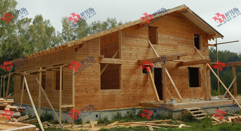дом из бруса построенный по проекту Вариант 11 Л-1 фотография 2643